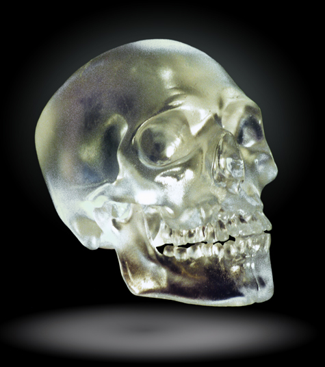 Kiln Cast Lead Crystal Skull
