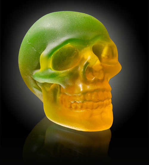 75 reflections PHOSPHORESCENT SKULL