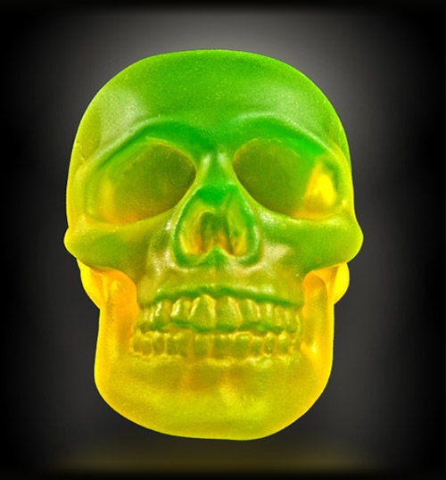 frontal PHOSPHORESCENT SKULL