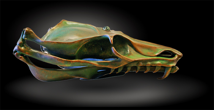 Bronze Dragon Skull.